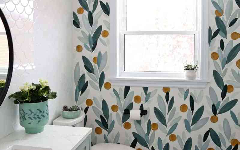 How to paint your own wallpaper mural- step by step tutorial
