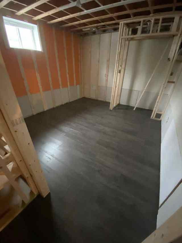 The best flooring for a damp basement | Master Bedroom Design by popular Canada interior design blog, Fynes Designs: before image of a master bedroom.