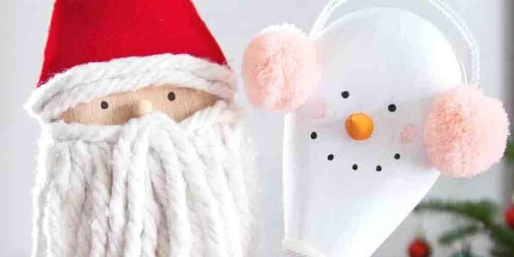 Wooden spoon Christmas craft ideas