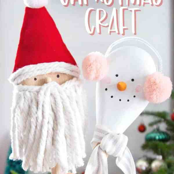 Wooden spoon Christmas craft ideas