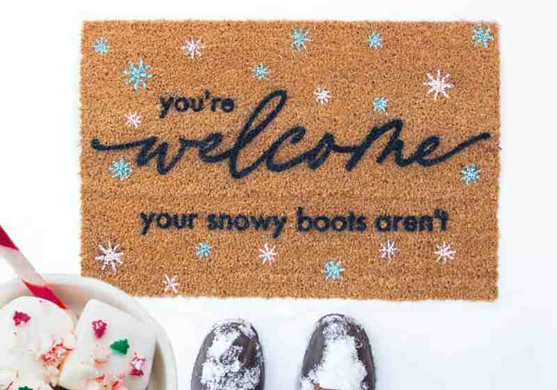 Winter Welcome Mat SVG file