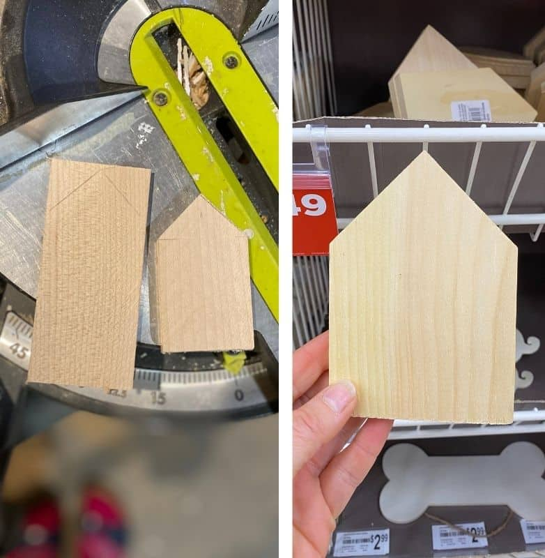 Make your own scrap wood gingerbread house ornaments