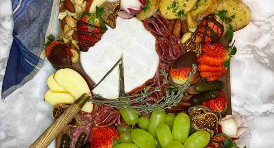 Food garnish and Charcuterie board presentation ideas from a top chef and restaurant owner