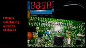 STM32F4 discovery board with seven Segment module TM1637