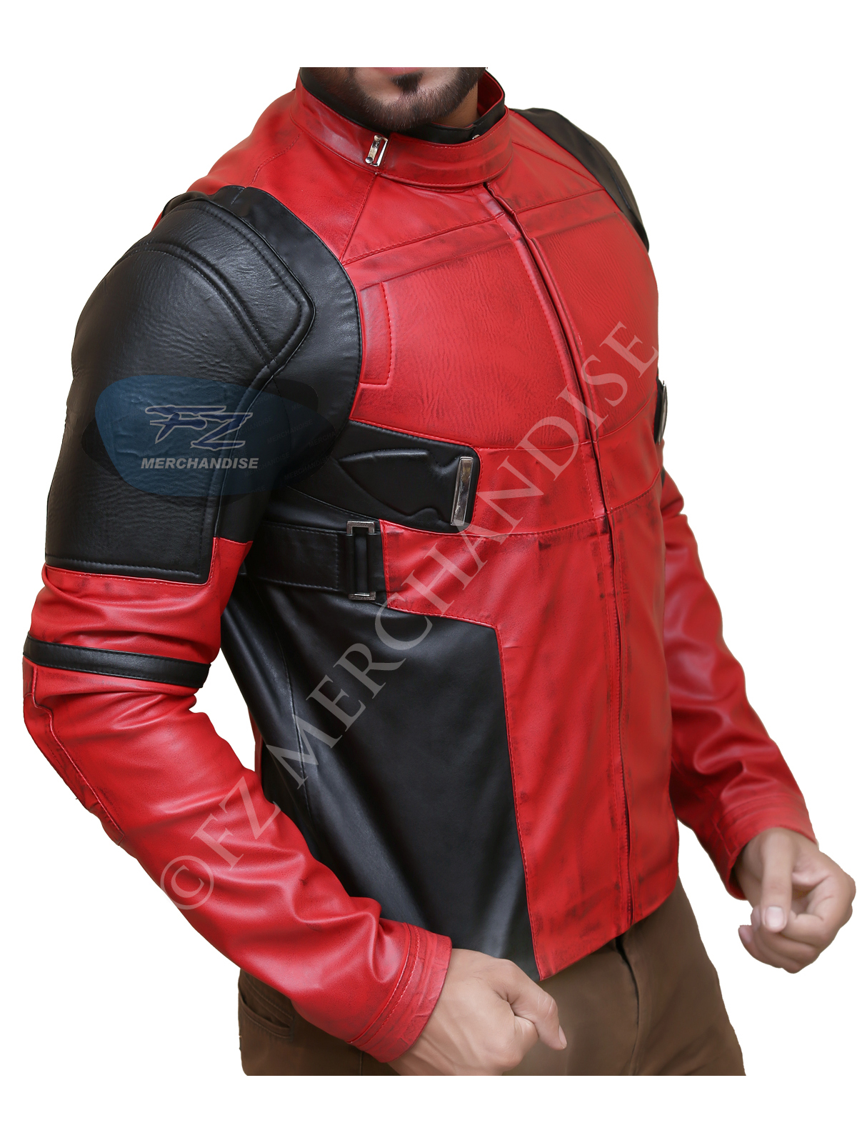 Deadpool Jacket Red And Black Faux Jacket