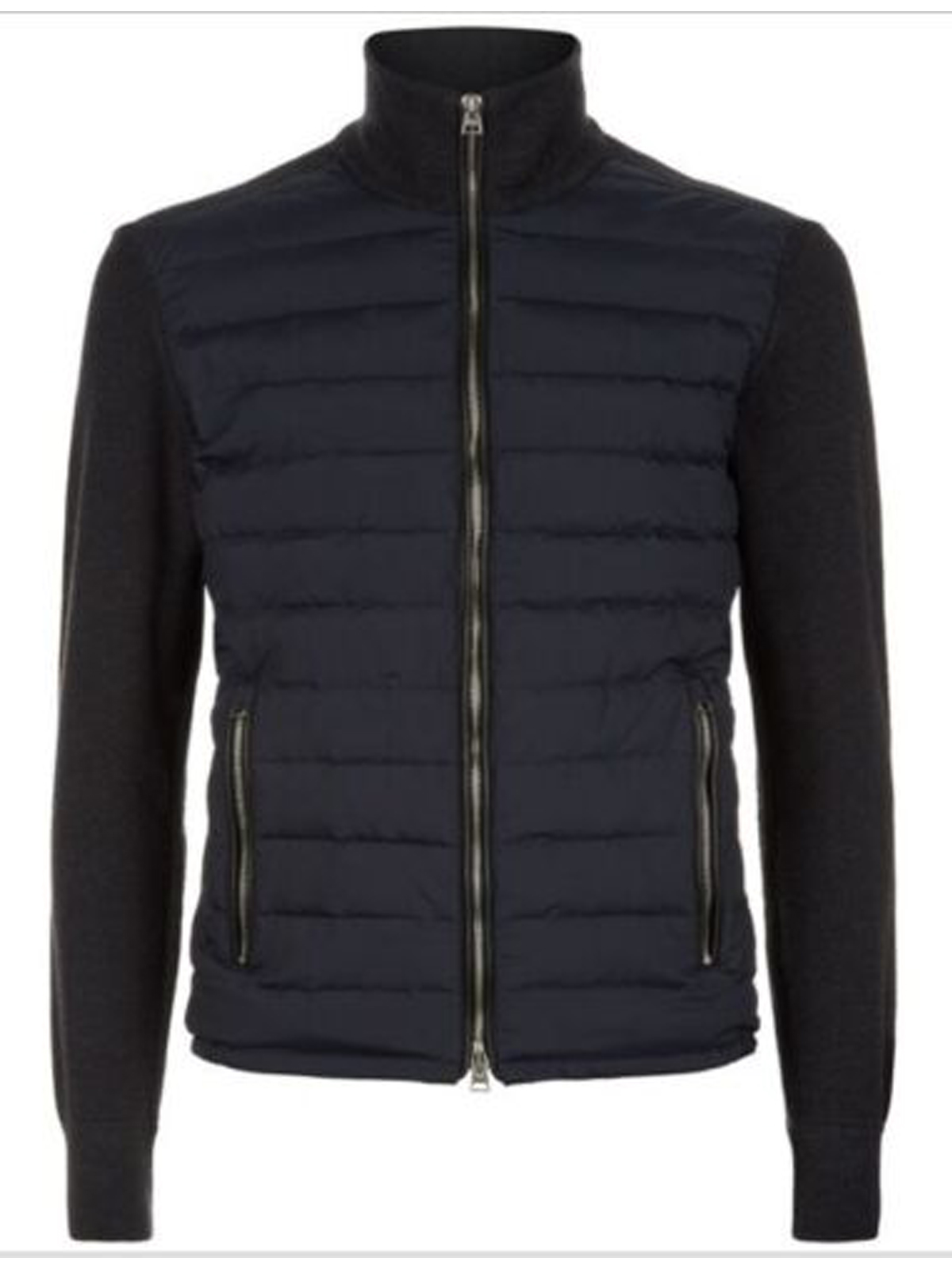 Tom Ford Spectre knitted sleeve bomber jacket