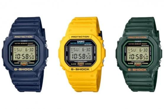 Hình vuông xuất xứ màu G-Shock: DW-5600RB-2 DW-5600RB-3 DW-5600REC-9