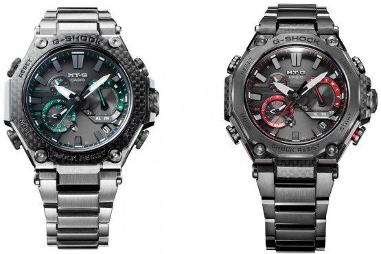 G-Shock MTG-B2000XD-1A và MTG-B2000YBD-1A với ngoại thất sợi carbon