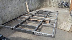 Rahmen Wohnkabine