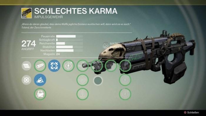 Impulsgewehr Schlechtes Karma, Bild: Screenshot Destiny
