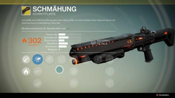 Schrotflinte Schmähung, Bild: Screenshot Destiny