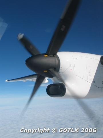 Aeroplane propellor in flight