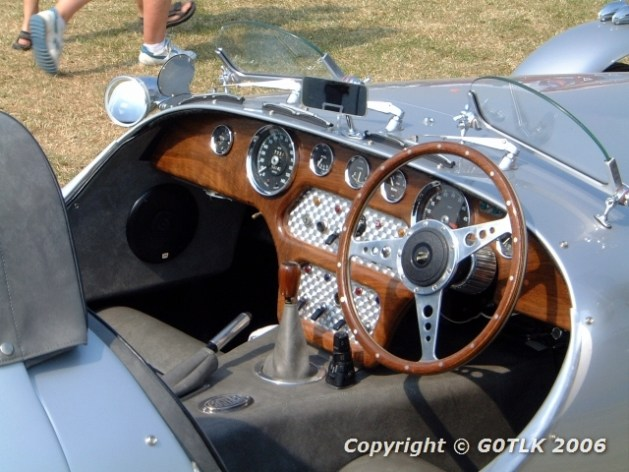 Sports car interior in wood