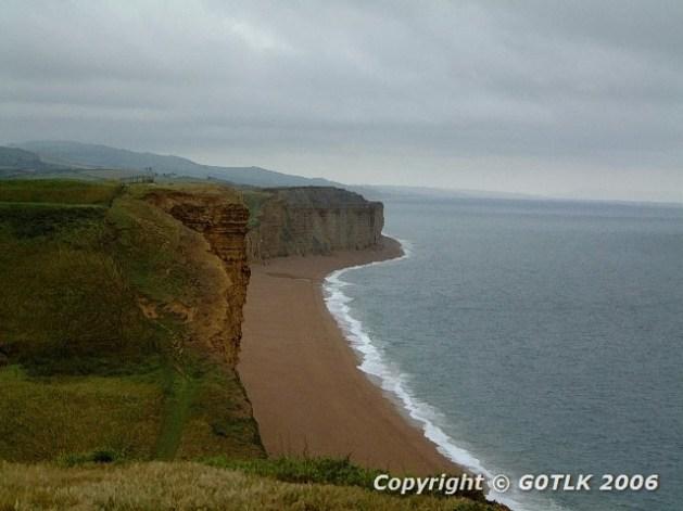 Dorset beach and cliffs