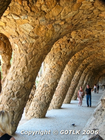 Curved stone arches