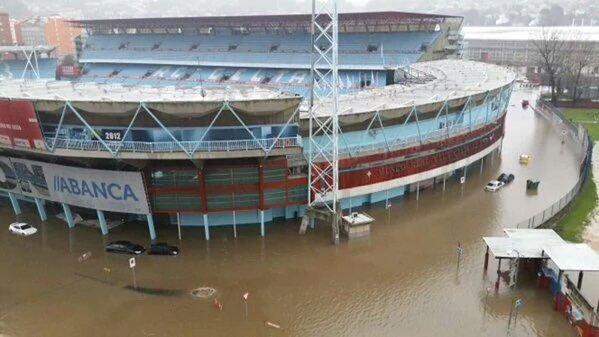 Balaídos inundado (enero de 2016)