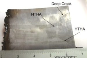 HTHA analysis of steel component for high temperature hydrogen attack