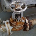 Corrosion of valves and flanges