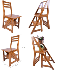 Folding Chair Ladder Dining Room Repair Innovative Fold Up Library Step
