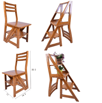 Innovative Chair Ladder Folding Fold Up Library Step ...