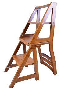 Folding Fold Up Library Step Ladder Chair Office Kitchen ...