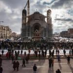 FOTO: Imagini impresionante, sâmbătă, la Cluj, de la înmormântarea Episcopului Florentin Crihălmeanu