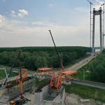 VIDEO Probleme pentru Podul de la Brăila: infiltrații de apă la blocurile de ancoraj