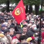 Comuniștii au protestat la Moscova împotriva rezultatului alegerilor parlamentare din Rusia, unde s-au situat pe locul doi