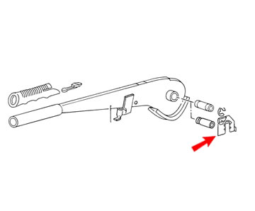 Golf Cabriolet MK1 Genuine VW Handbrake Lever Pin Securing