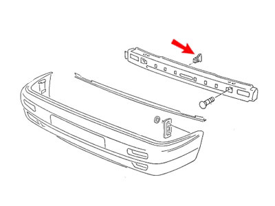 Jetta MK2 Genuine VW Big Bumper Bracket Securing Wedge
