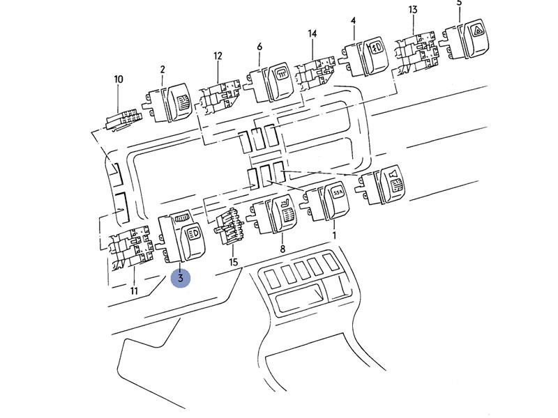 Golf MK2 Genuine VW Headlight Switch w Dimmer Panel
