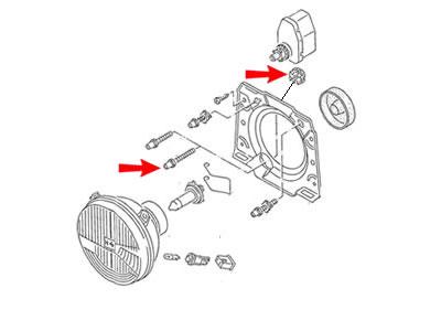 Golf MK2 Genuine VW Headlight Beam Adjuster, Adjusting