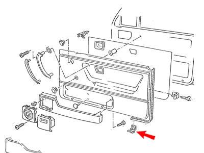 Corrado Genuine VW Door Panel Bottom Retaining Clip