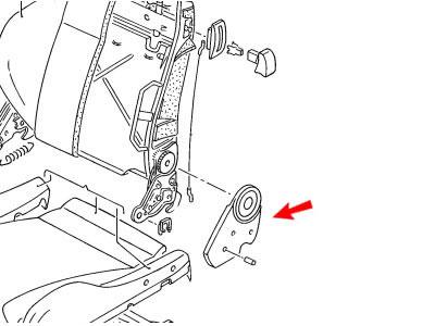 Genuine VW Recaro Seat Hinge Trim Cover Left Black Nos