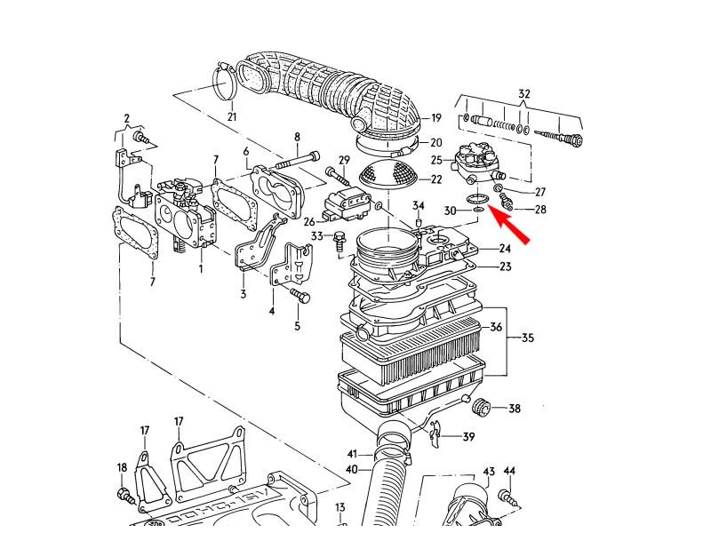 Golf Cabriolet MK1 Genuine VW Fuel Metering Distributor