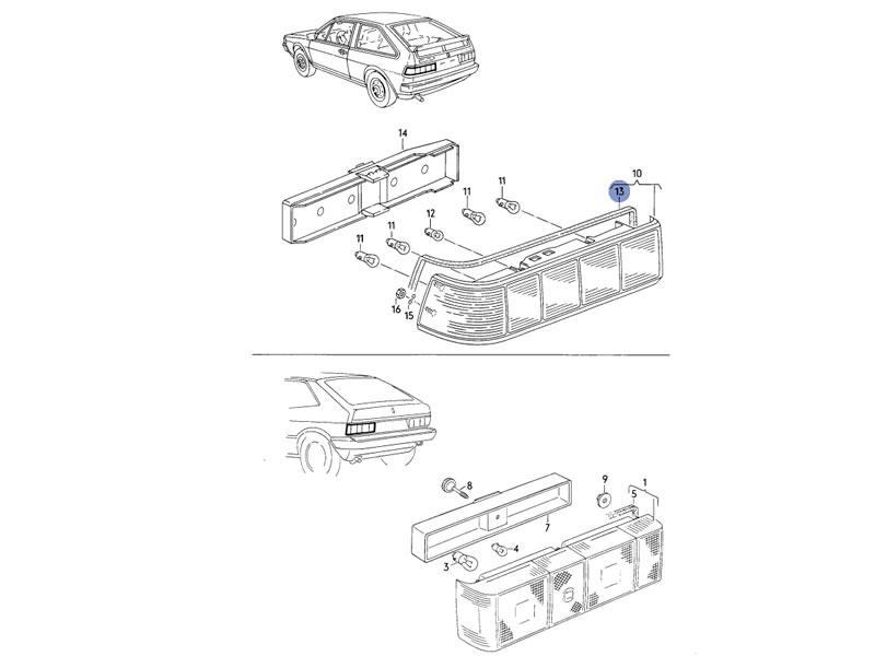 Scirocco MK2 Genuine VW Rear Light Gasket Tailight Seal