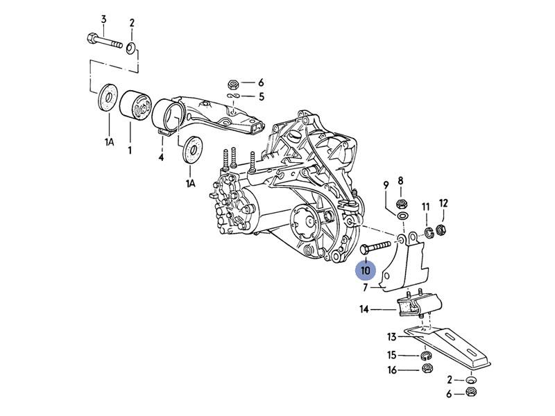 Golf Cabriolet MK1 Genuine VW Engine Gearbox Mount Hexagon