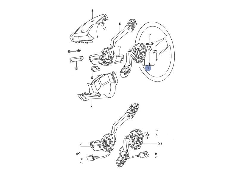 Jetta MK2 Genuine VW Indicator Stalk Switch Headlight