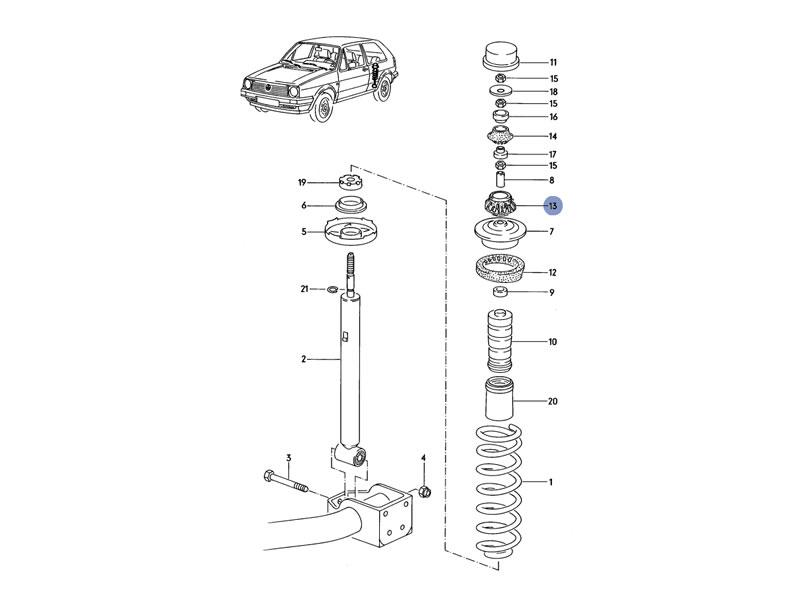 Buy Vento Genuine VW Rear Shock Absorber Lower Bushing on