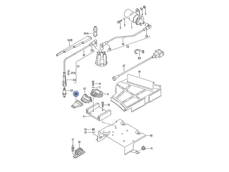 Buy Vento Genuine VW 7 Pin Flat Contact Housing on 2040-motos