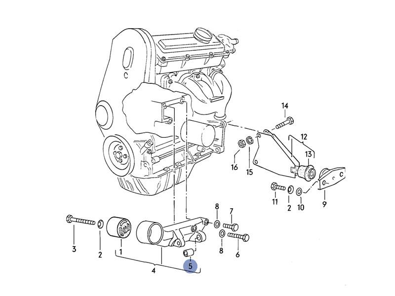 Polo MK2 Genuine VW 1.1 1.3 Engine Mount Bracket Bushing