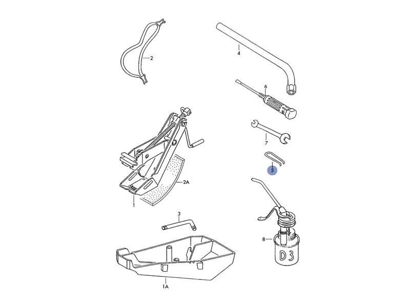 Iltis Genuine VW Wheel Centre Cap 2 Point Extractor Hook
