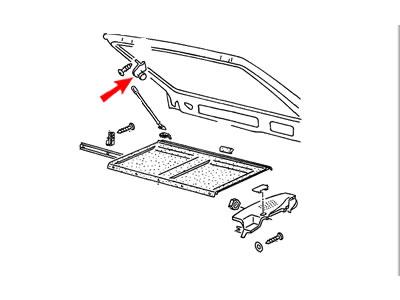 Scirocco MK2 Genuine VW Parcel Shelf Strap Retaining Clip Nos