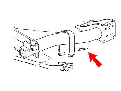 VW Golf Cabriolet MK1 Rear Anti Roll/Sway Bar Clamp Clip