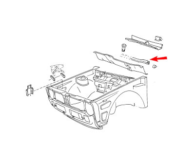 Golf MK1 Genuine VW Under Bonnet Seperator Rubber Seal Nos