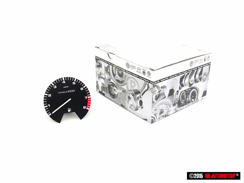 Golf MK2 Genuine VW Tachometer Rev Counter 8000 RPM 16V