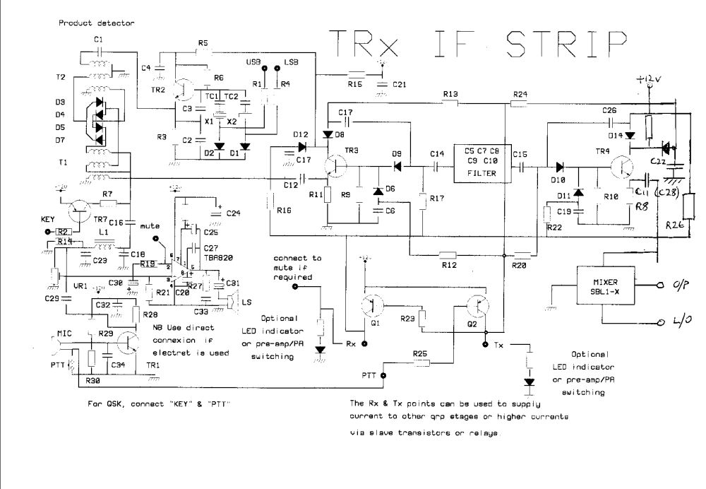 medium resolution of transceiver if strip