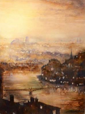PRIX DE LA VILLE DE VILLEFRANCHE : Marius COUSIN pour le n° 64 « Lyon, le matin »