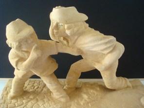 MEDAILLE DE L'ACADEMIE DE VILLEFRANCHE : Franz HOISS pour la sculpture n° 159 » Les deux garçons « chut »
