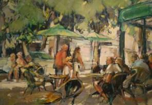 PRIX DE L'EXPRESSION ARTISTIQUE LOCALE : décerné par la Commission Culture de la Ville Jean-Yves BRUYERE pour le tableau n°61 « Terrasse de café à Luchon »